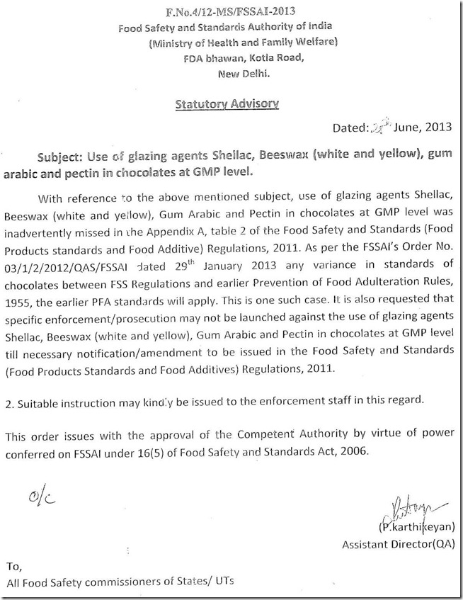 Advisory(28-06-2013)