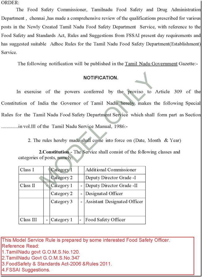 Pages from TamilNaduFoodSafetyDepartmentServiceRULES_model 1A