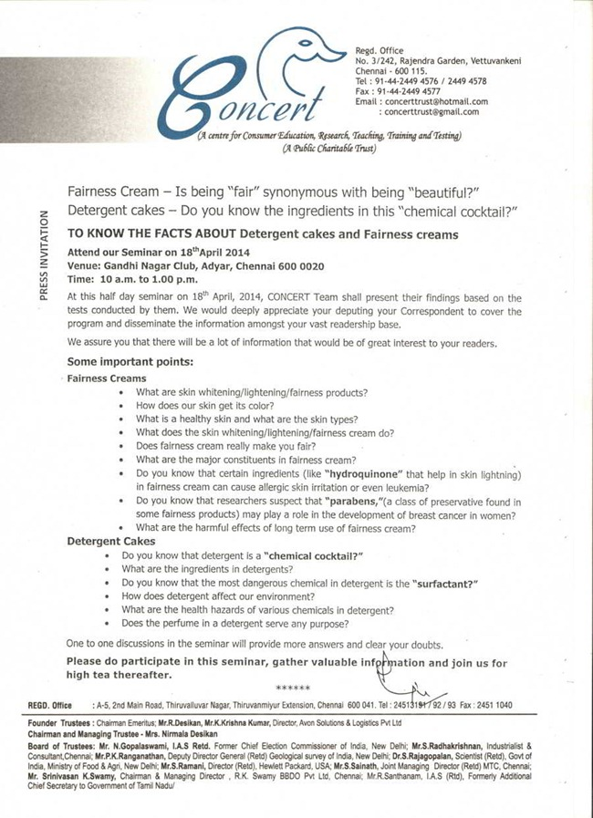 Press Invite-Detergent cakes and Fairness Creams (Eng)