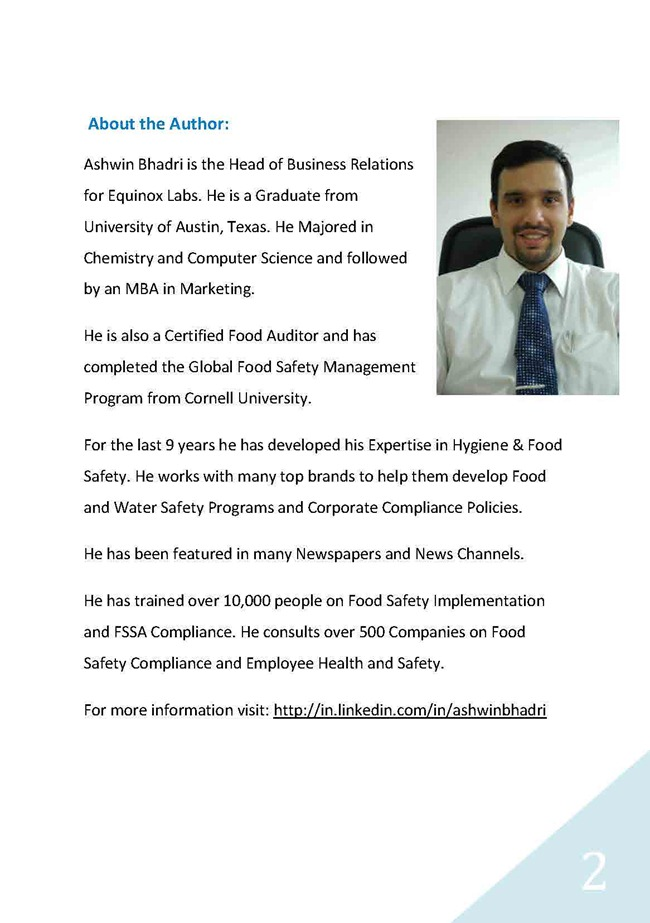 Ashwin Bhadri's How To Face a FSSAI/FDA Audit ebook is a Must Read