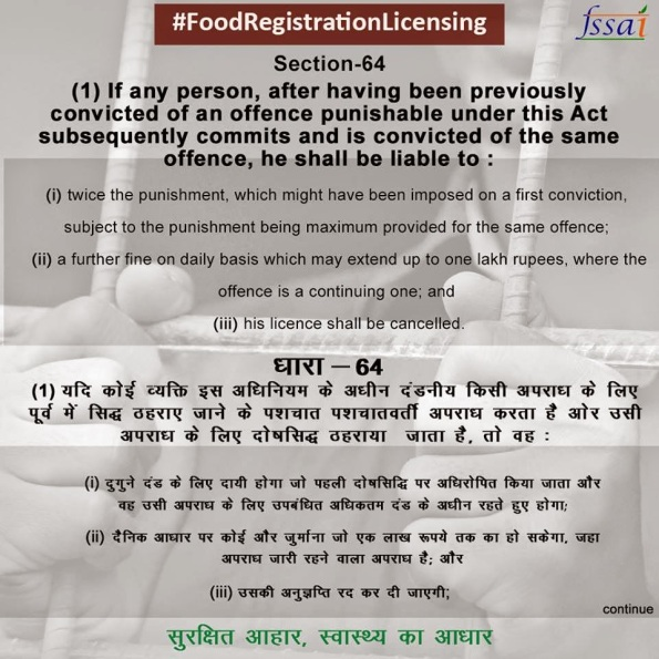 FOOD REGISTRATION LICENSING – FSSAI | FOOD SAFETY NEWS