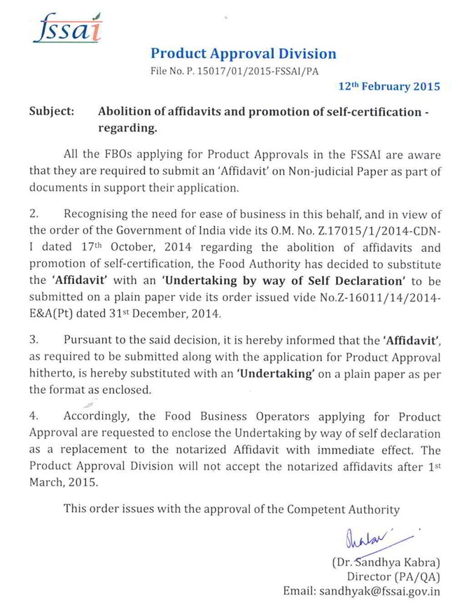 Abolition Of Affidavits And Promotion Of Self Certification